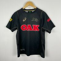 Asics Penrith Panthers Training Jersey Shirt Medium Black Short Sleeve