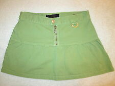 Juicy Couture Jeans Mini Jean Denim Skirt Lime Green Size 26 USA
