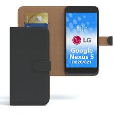 Tasche f. LG Google Nexus 5 - D820 / D821 Case Wallet Schutz Hülle Schwarz