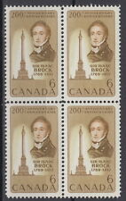 CANADA #501 6¢ Sir Isaac Brock Block of Four Mint Never Hinged