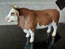 Bull Figure Schleich Cow Farm Life Nativity Scene Animal Simmental