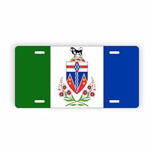 "Yukon Territory Flag Licence Plate 6"" x 12"" Aluminum Plate"