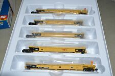 HO Walthers TTX Thrall 40' Articulated Containers Well Car Train Set 748512