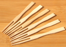 Small buffet & canapé wood fork 9cm x 1000