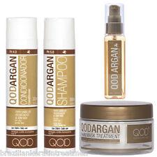 Qod Argan cloruro de sodio (sal) Gratis Shampoo, Acondicionador, profundo Máscara, Aceite De Argan