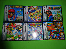 Empty Cases! Mario and Luigi SuperStar Saga Tennis Golf Pinball Game Boy Advance