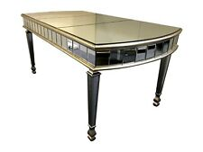 6 Seater Mirrored Dining Room Table Venetian Glass Luxury Silver Home Interiors