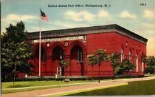 1940'S. U.S. POST OFFICE. PHILLIPSBURG, NJ. POSTCARD. SZ4