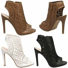 High Heel (3-4.5 in.) Stiletto Cut-Out Boots for Women