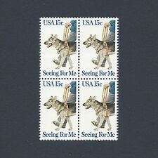 First Guide Dog-50th Anniversary Vintage Mint Set of 4 Stamps 39 Years Old!