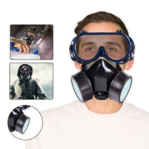 Lackiermaske Atemschutzmaske Staubmaske Gasmaske Schutzbrille für Lackierpistole