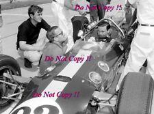Jim Clark & Colin Chapman Lotus Portrait Indianapolis 500 1965 Photograph 2