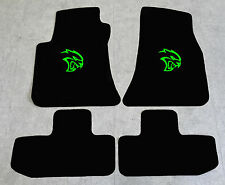 Autoteppich Fußmatten für Dodge Challenger Hellcat ab 2008' Velours neongrün Neu