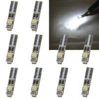 10x White T5 LED 3528 3SMD Car Neo Wedge Climate Gauge Light Bulb lamp DC 12V