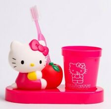 SANRIO Hello Kitty Die-Cut Tooth Brush Set: Pink  ( 100% Authentic/Brand New )