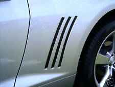 Gill quarter black out vent decals stripes kit 2010 - 2015 All  Camaro SS RS