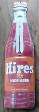 Vintage Hires Root Beer Soda Bottle Thermometer-Store-Fountain-Gas Station-Sign