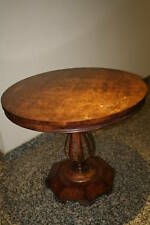 Empire Revival Style Burl and Gild Metal Parlor Table
