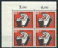 Bund 245 postfrisch Eckrand Viererblock Ecke 1 BRD Kinderpflege 1956 MNH