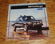 Original 1987 Ford Truck Ranger Sales Brochure 87 Pickup