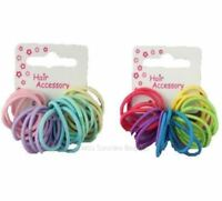 20 Small Baby Size Mini Hair Elastics Bobbles Bands Snag Free Various Colours
