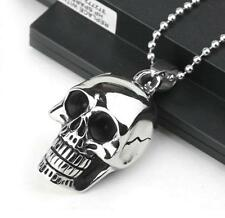 SUPER HERO SKULL Steel Chain Pendant Necklace Fashion Boy Lady Man Gift Xmas