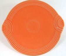 Fiestaware Persimmon Handled Cake Plate Round Platter Fiesta Retired Color