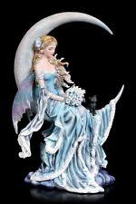 Elfen Figur mit Katze - Wind Moon by Nene Thomas - Fantasy Fee Mond Deko Statue