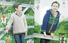 Knitting Pattern Boys Jumper Sweater Hoodie Cardigan Jacket in DK Double Knit