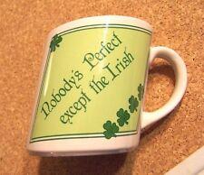 Nobody's Perfect except the Irish slanted ceramic mug coffee cup