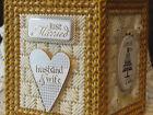 WEDDING / MARRIAGE / LOVE   NEW - HANDMADE - PLASTIC CANVAS TISSUE BOX COVER