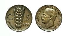 pcc1563_1) Vittorio Emanuele III (1900-1943) 5 cent Spiga 1937