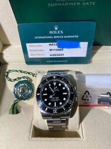 2019 Rolex submariner 114060 full sevice RSC 4/26/21