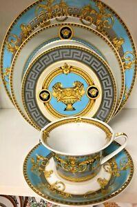 Prestige Gala Bleu by Rosenthal - Versace 5 piece Place Setting, fine China, NEW