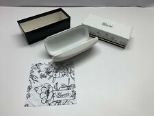 Gucci Glasses Case White Sunglasses Small Leather Cloth Shell Eyeglass Authentic