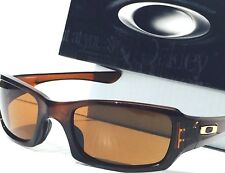 NEW* Oakley FIVES Squared Root Beer w POLARIZED Brown lens Sunglass 9238