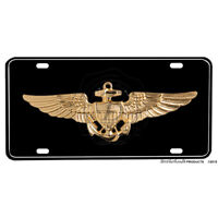 """United States Navy Seabees /""""Can Do/"""" American Flag Aluminum License Plate"""