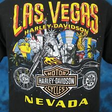 vtg 2002 HARLEY DAVIDSON MOTORCYCLE LAS VEGAS NEVADA T-Shirt MEDIUM biker soft