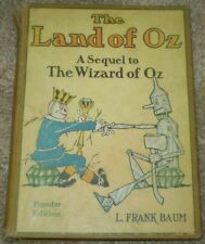 THE LAND OF OZ, A SEQUEL TO THE WIZARD OF OZ, by L FRANK BAUM, c1930, POPULAR ED