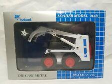 Bobcat 743B Blue Skid Loader - Clover 6720921 - Diecast 1:19 Scale Model Toy NIB