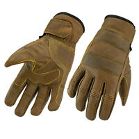 Gallanto Tan Brown Motorcycle Thinsulate Leather Winter Long Gloves Rustic