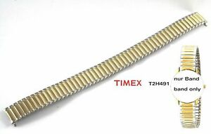 Timex Replacement Band For T2H491 Flexible Strap Stretch Ladies Two-Tone Silver/