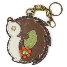 Chala Hedge Hog Whimsical Inspired Key Chain Coin Purse Leather Bag Fob Charm