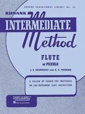 Rubank Intermediate Flute Or Piccolo Music Book - Brand New