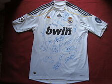 REAL MADRID 17 HAND SIGNED 2009-10 CHAMPIONS LEAGUE SHIRT- PHOTO PROOF - RONALDO