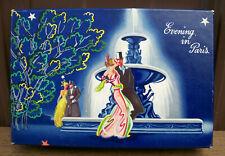 vtg EVENING IN PARIS BOURJOIS PERFUME BOXED SET w LIPSTICK TUBE Art Deco Box