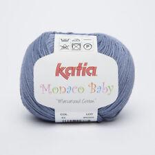 Pelote de laine Katia Monaco Baby bleu n°45 100% coton