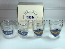 Vintage Tervis Set Of 4 Nos (2) Ford (2) Goodyear Super Rare Usa! 1970s
