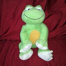 "Circo Animal Adventure FROG Green Velour Soft 16"" Plush Ribbed Tummy Pads Target"