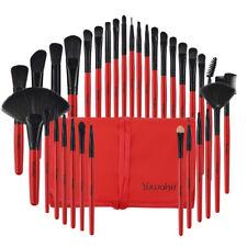 32Pcs Professional Makeup Brushes Eyebrow Face Lip Pencil Brush Bag Kit Red Tool